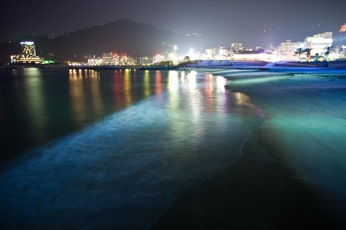 熱海ビーチの夜景