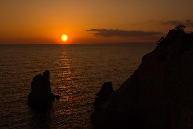 黄金崎の夕日