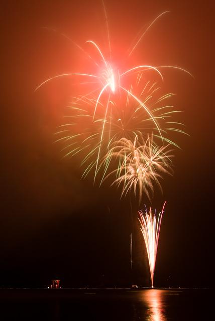 2009年7月31日 芦ノ湖 湖水まつりの花火
