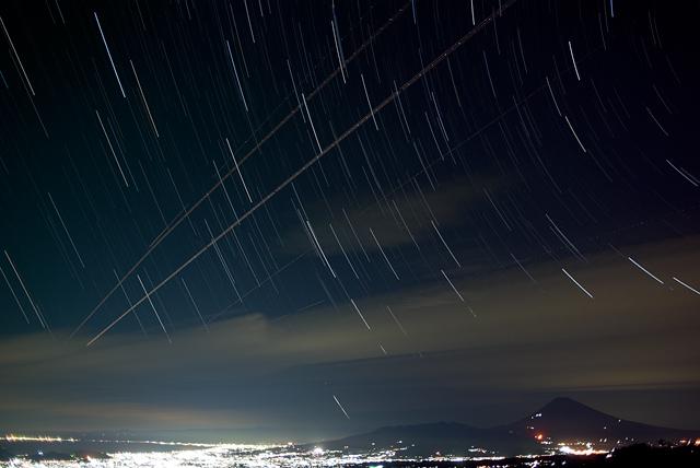 滝知山からの夜景