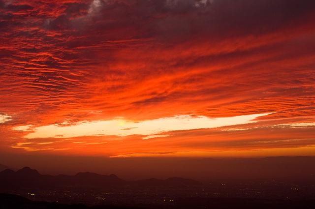 2009年10月20日の夕焼け空