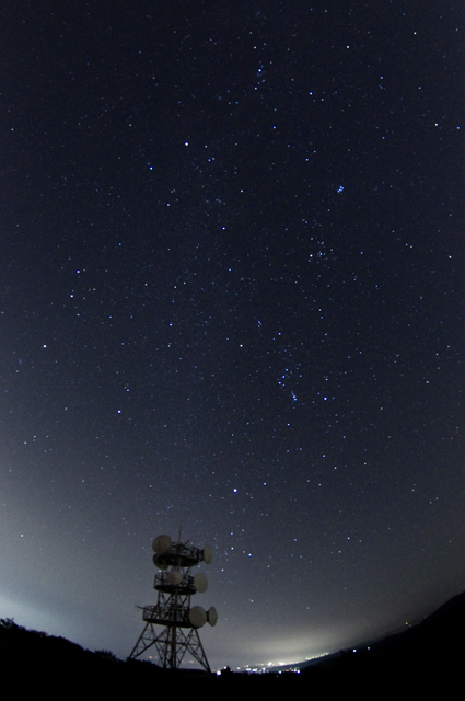 オリオン座方面の夜空
