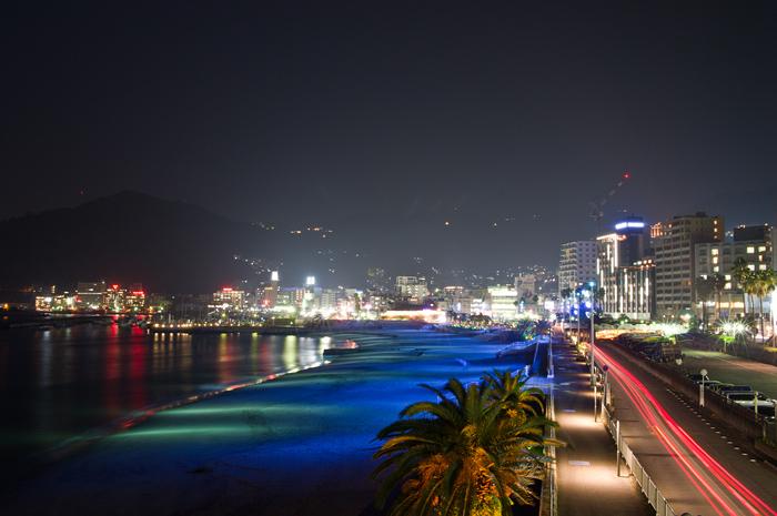 熱海サンビーチの夜景