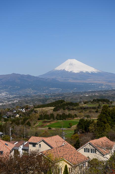富士山に雪